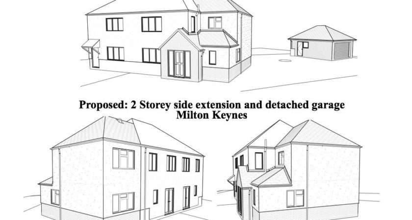 House Extension Plans Two Storey Side Design