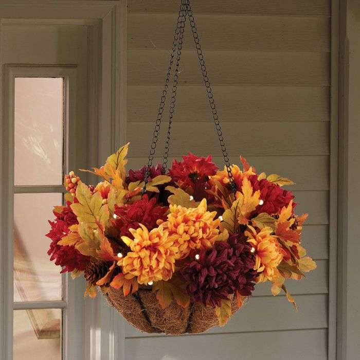 Ideas Fall Hanging Baskets Pinterest