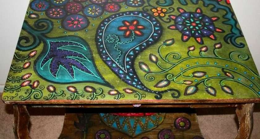 Ideas Hand Painted Table Tops