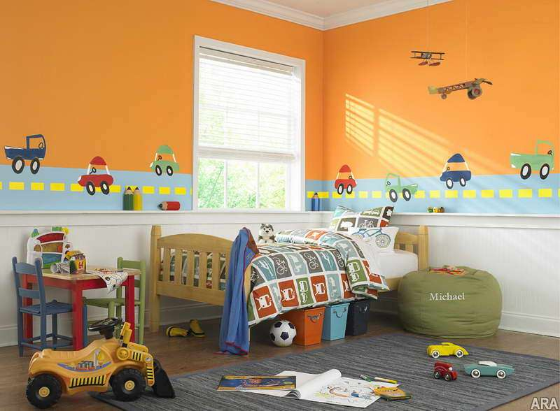 Ideas Kids Rooms Painting Wall Orens