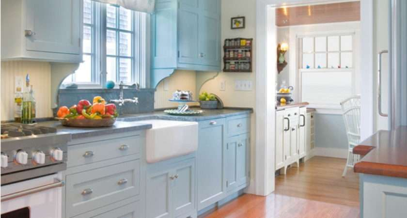 Ideas Kitchen Decorating Light Blue Color