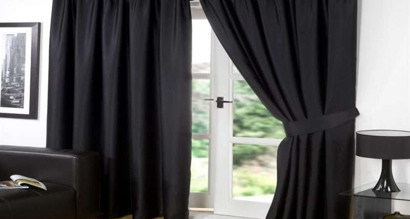 Ideas Ready Made Blackout Curtains Black