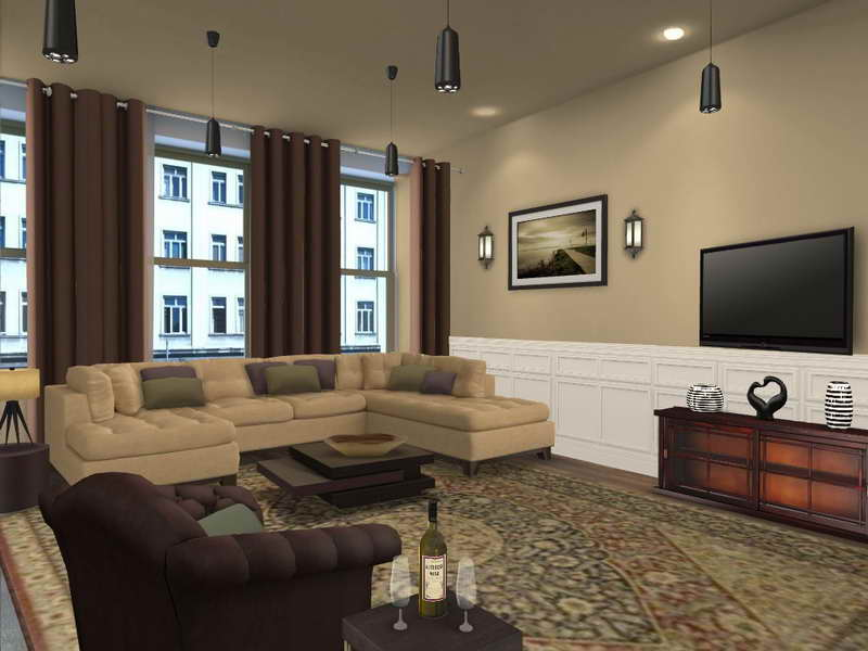 Ideas Small Spaces Living Room Painting