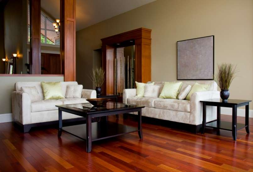 Ideas Wooden Floor Unique Chandelier Living Room Design