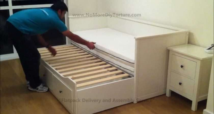 Ikea Hemnes Day Trundle Bed Drawers White Youtube