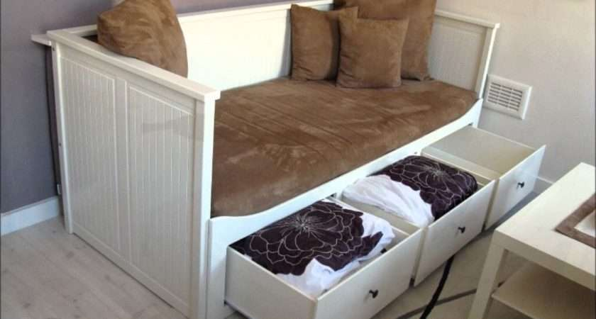 Ikea Hemnes Daybed Large Storage Drawers Single Bed