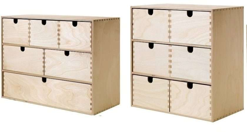 Ikea Moppe Mini Wooden Chest Drawers Multi