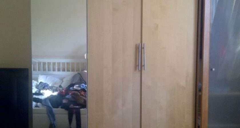 Ikea Pax Wardrobes Triple Mirror Birch Beech Carshalton