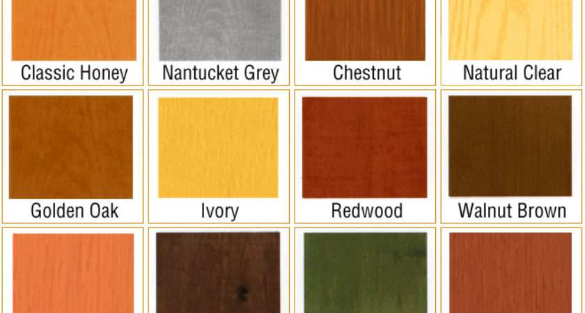 Important Stain Colors May Vary Due Wood Type Color Porosity