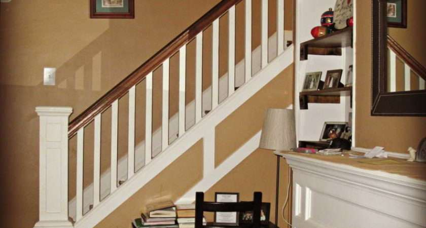 Indoor Southern Staircase Wall Color Brown