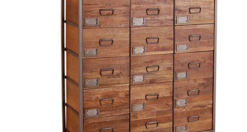 Industrial Vintage Apothecary Chest Orchard