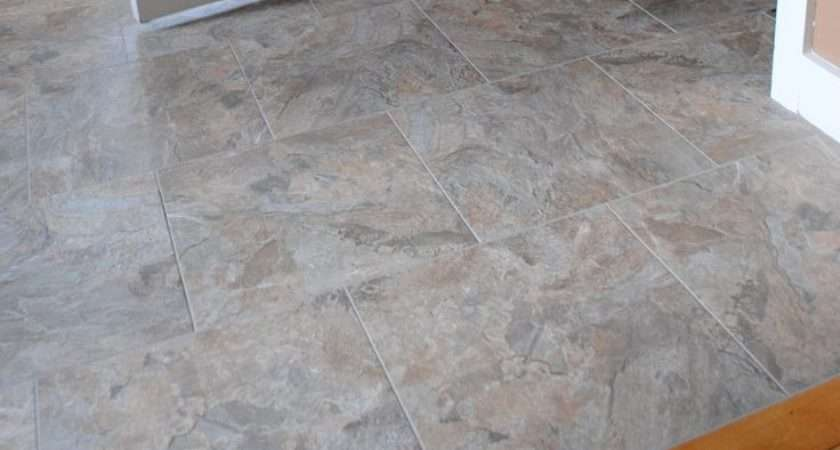 Install Groutable Vinyl Floor Tile Projects Pinterest