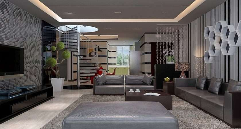 Interior Design Living Room Chinese Modern Villa