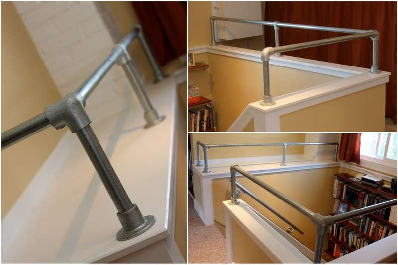 Interior Industrial Pipe Handrail