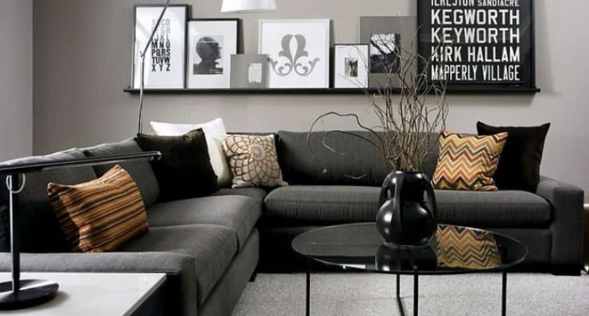 Interior Painting Idea Using Gray Base Color Highlight