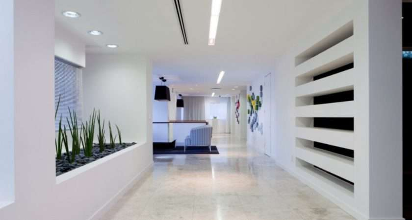 Interior Wall Cladding Feature Design Corporate Office