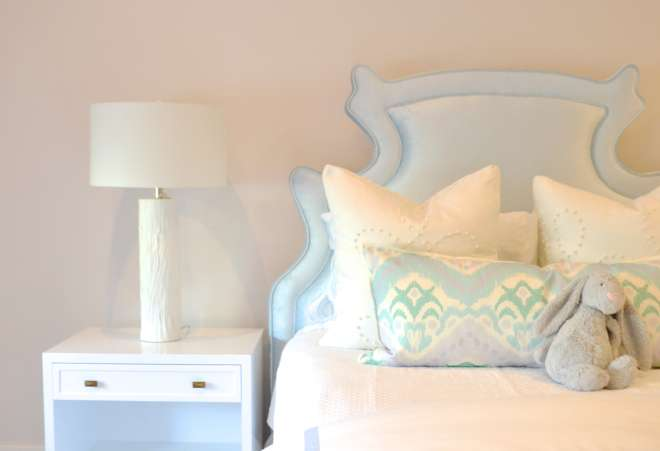Interiors Bedrooms Powder Blue Headboards Silk Headboard