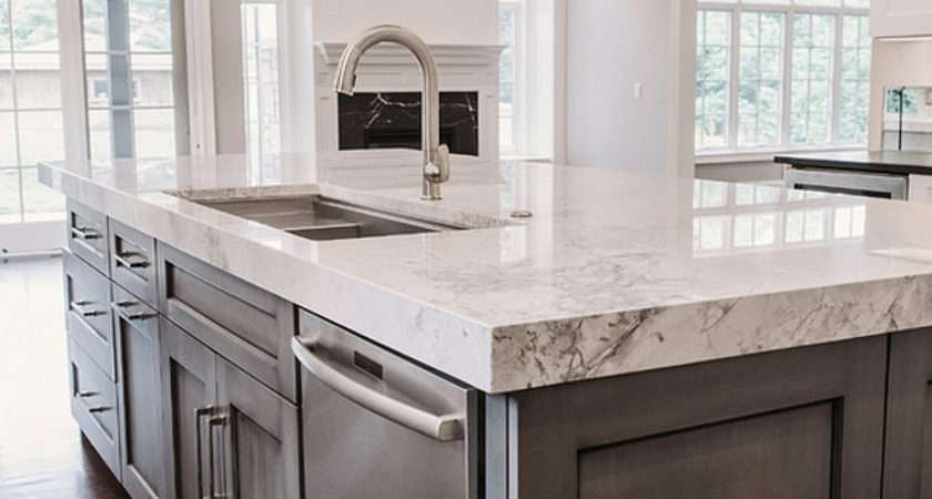 Island Countertop Thick Kitchen