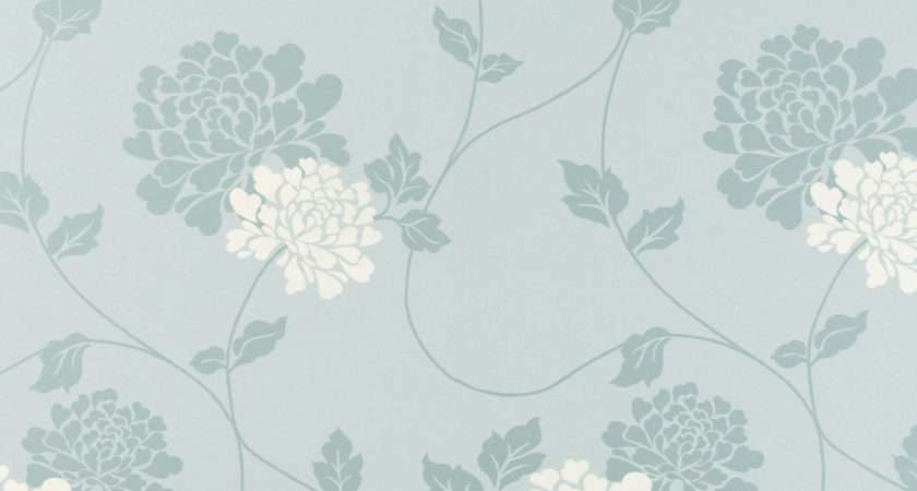 Isodore Duck Egg White Floral Laura Ashley