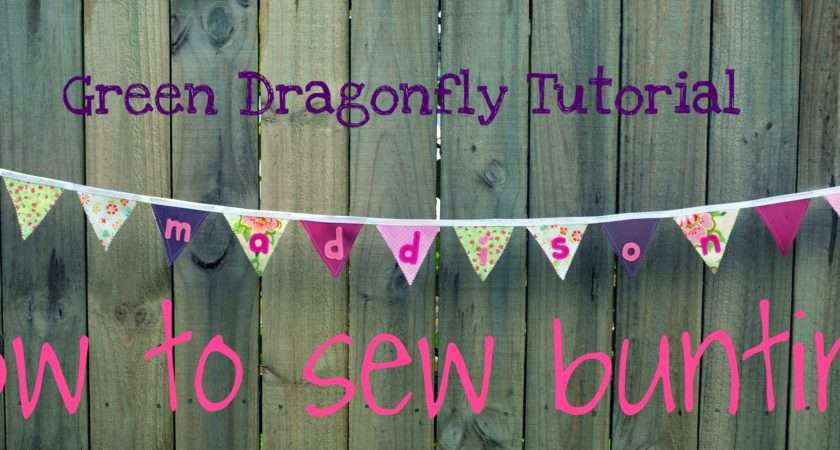 Its Sew Easy Bunting Green Dragonfly