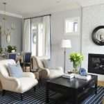 Ivory Blue Living Room Transitional Kerrisdale