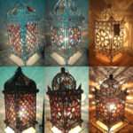 Jeweled Cutwork Flower Table Lamp Vintage Shabby Chic Colourful Ebay