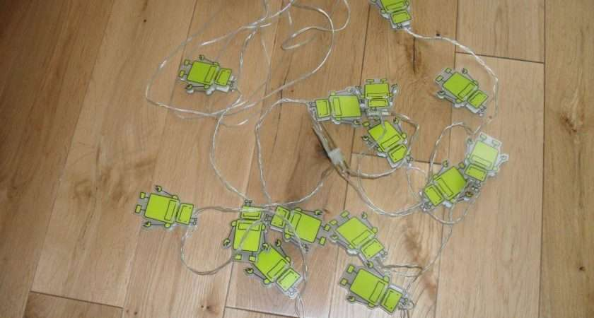 John Lewis Little Robots String Robot Lights Children Room