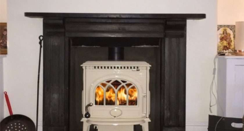 Jotul Cream Wood Burning Stove Installation