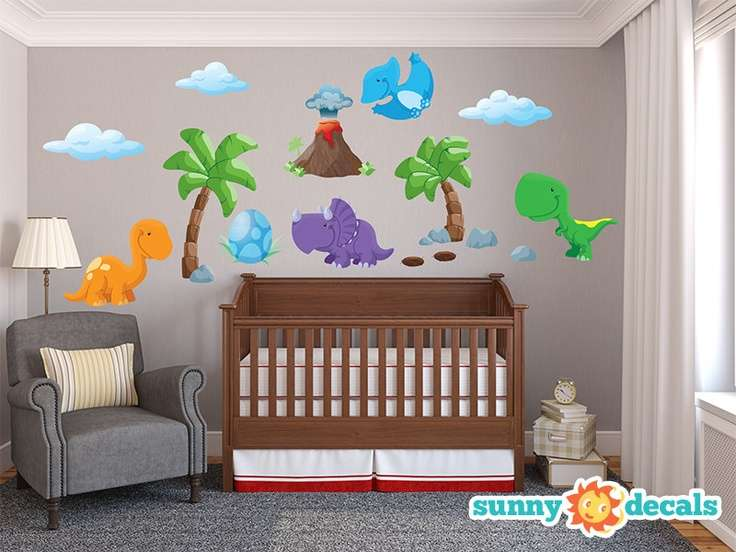 Jumbo Dinosaur Wall Stickers Decals Nursery Kids Rooms
