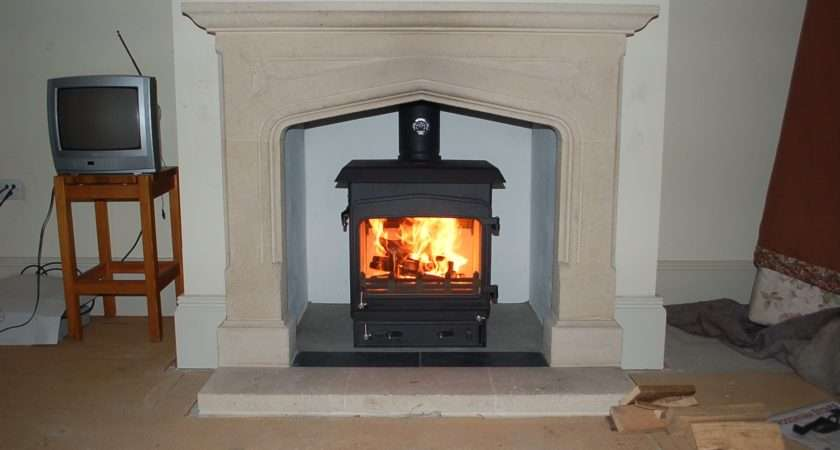 Just Stoves Woodwarm Fireview Slender Flat Top Multi