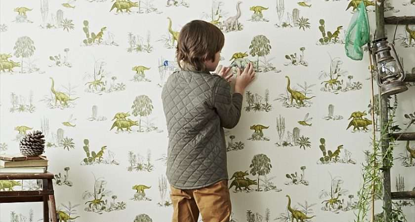 Kids Bedrooms Dinosaur Themed Wall Art Murals