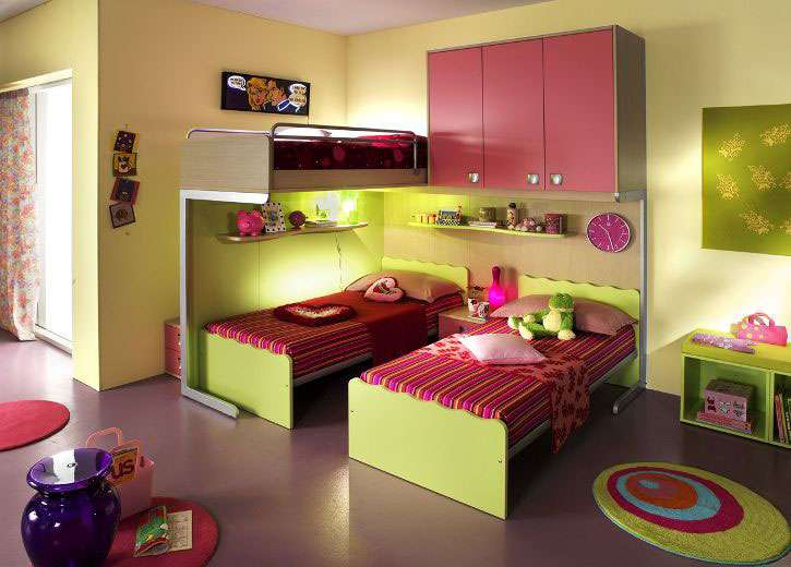 Kids Bedrooms Two Functional Bunk Beds Linead