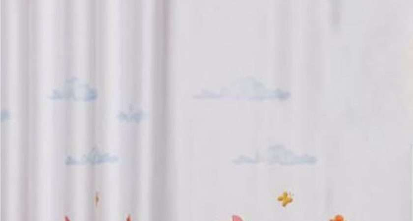 Kids Printed Voile Curtain Winnie Pooh Ready Made