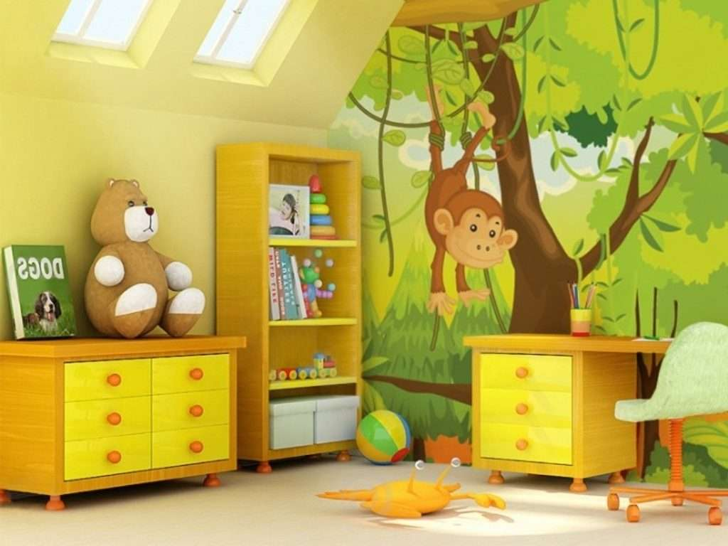 Kids Room Diy Decor Jungle Themed Bedroom Design