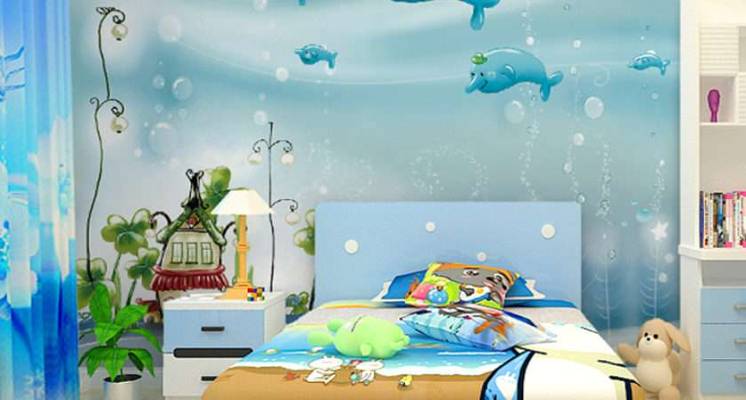 Kids Room Stunning Wall Paper Modern Design