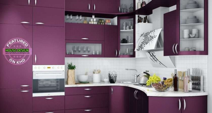 Kitchen Appliances Utensils Purple Tiles Plum