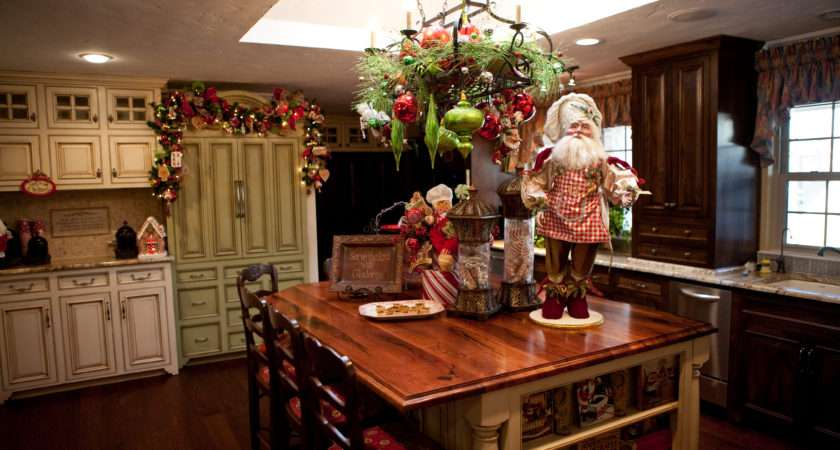 Kitchen Decorated Christmas