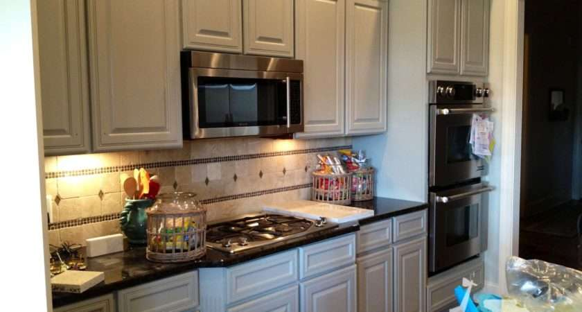 Kitchen Fascinating Painted Black Cabinets Design