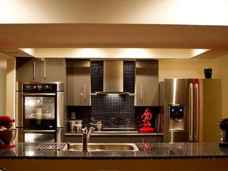 Kitchen Galley Island Layout Charming