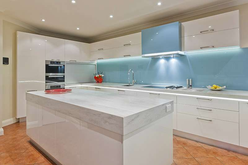 Kitchen Glass Splashback Ideas Tiles Decoglaze