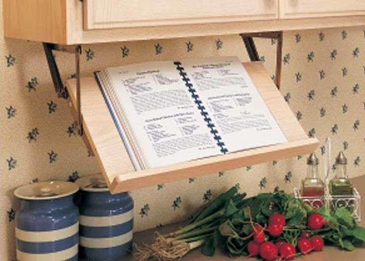 Kitchen Ideas Marvelous Retractable Book Stand Cookbook Holder