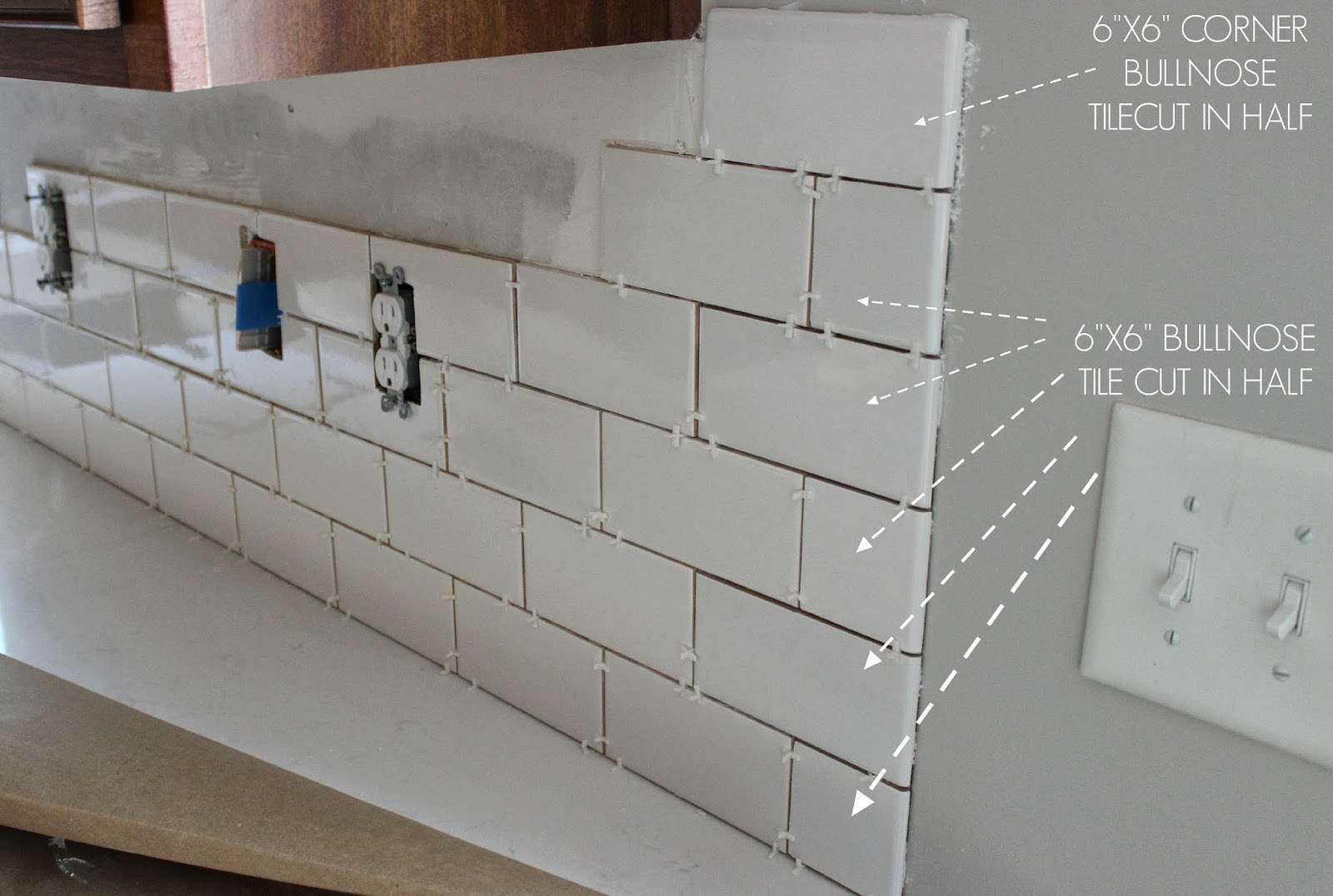 Kitchen Makeover Subway Tile Backsplash Installation Cibermelga