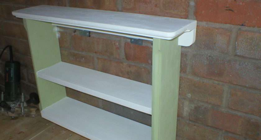 Kitchen Wall Shelf Shelves Wide Antique Shabby Chic Paint