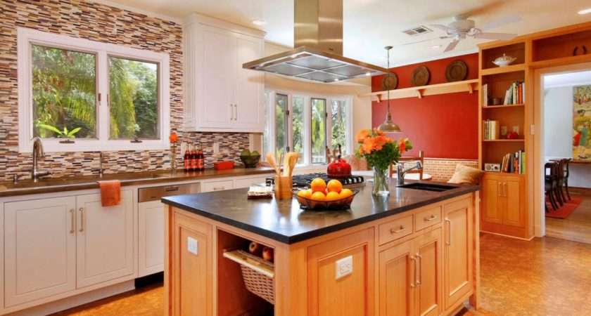 Kitchens Red Photos Multicolor Black Modern Style