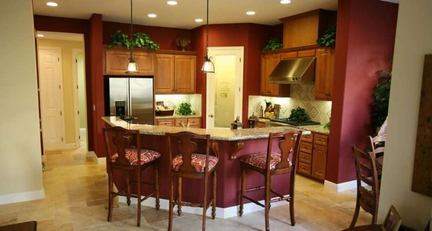 Kitchens Traditional Medium Wood Cabinets Golden