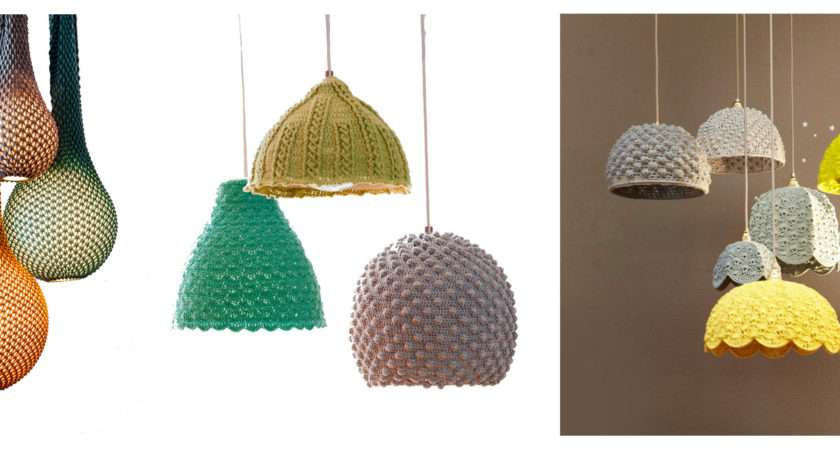 Knitted Lampshades Festival Light