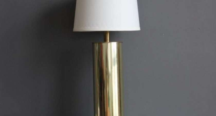 Lamp Table Blue Gold Tone Bedside Lamps