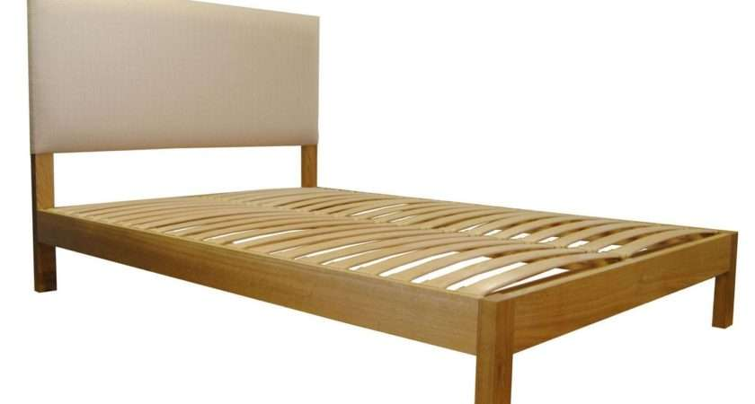 Lancaster Small Double Solid Oak Bed Integrated