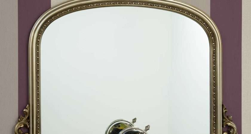 Large Antique Style Silver Overmantle Mirror Soraya