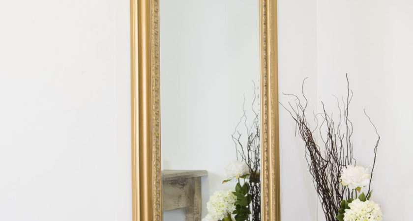 Large Gold Antique Style Wall Mirror Wood